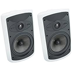 "top rated Niles OS7.5 7 ""High Performance Interactive Indoor and Outdoor Speakers – (Pair) White 2021"