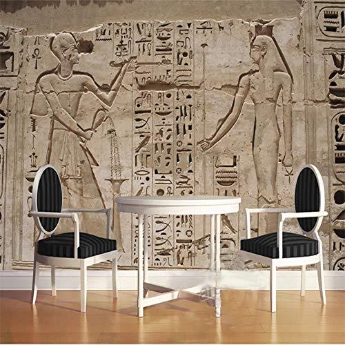 Behang niet-geweven muurschilderingen muurschildering foto oude Egyptische farao steen beeldhouwwerk 3D moderne huis slaapkamer decoratie 450x300cm