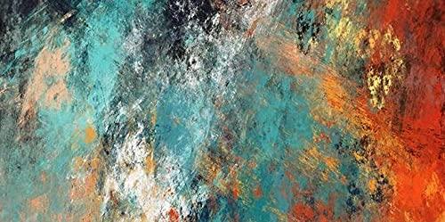 Cykably Imágenes de Pared de Gran tamaño para Sala de Estar Decoración para el hogar Clouds Abstractos Colorido Lienzo Pintura Arte decoración del hogar-50x100cm sin Marco