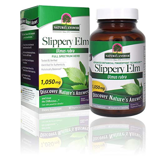 Nature's Answer Slipper Elm | Super Concentrated Herbal Supplement | Promotes Healthy Hair & Skin | Aids in Digestion | Gluten-Free, Kosher Certified & Vegan/Vegetarian | 90ct Capsules