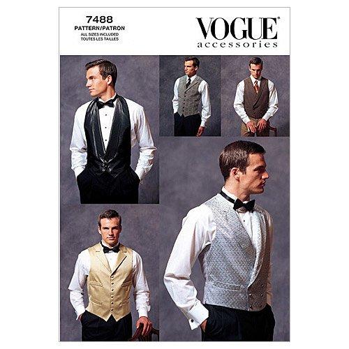 Vogue Patterns V7488 - Patrones de Costura para Chalecos de Hombre (Todas Las Tallas)