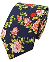 Men's Exquisite Woven Necktie Casual Cotton Floral Formal Tie 8cm