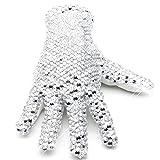 MJ Michael Shiny Glove Ultimate Collection Diamond Gloves 3D Sparkling Crystal Billie Jean Handmade Glove (Left hand)