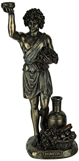 Veronese Design Resin Statues Dionysus Greek God of Wine and Pleasure Bronze Finished Statue 4.25 X 10.75 X 3.5 Inches Bronze