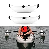 Lixada Kayak PVC Inflatable Outrigger Kayak Canoe Fishing Boat Standing Float...