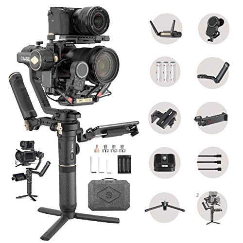 Zhiyun Crane 2S Pro Kit 3-Axis Handheld Gimbal Stabilizer for DSLR and Mirrorless Camera with Video Transmitter, Follow Focus… Compatible with Sony Nikon Canon Panasonic LUMIX, 7 Lbs Max Payload
