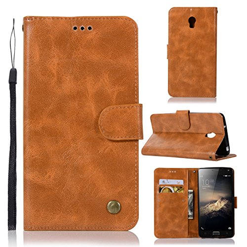 Lenovo Vibe P1 5.5 Inch Wallet Case,PU Leather Magnetic Closure Flip Stand Cover Case with 3 Card Slot Cash Clip Stand Holder
