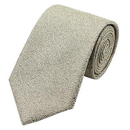 Jason & Vogue Designer Cravate en gris/beige à motifs Fein