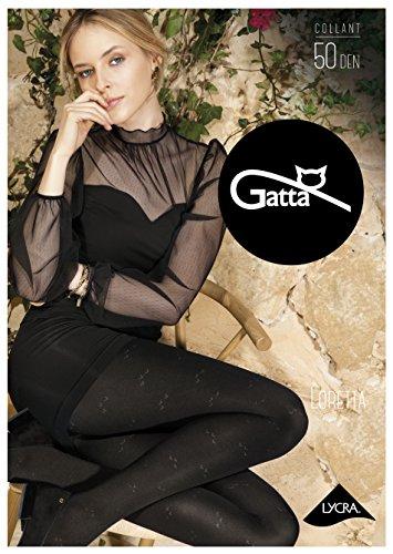 Gatta ondoorzichtige panty met patroon 50den (861-112) - panty zwart met fantasiepatroon - ontworpen & Made in EU
