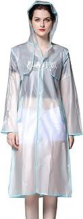 comprar comparacion Cayuan Multi-Funcional Chubasquero de EVA Mujer Transparente Poncho de Lluvia con Capucha Extraíble Impermeable Chaqueta R...
