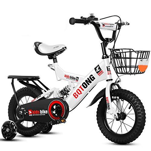 KXDLR Meisjes Fiets voor 2-10 Jaar Oud 12 14 16 18 Inch Cruiser Fiets met Training Wielen En Achterwielophanging Peuter Kids Bike