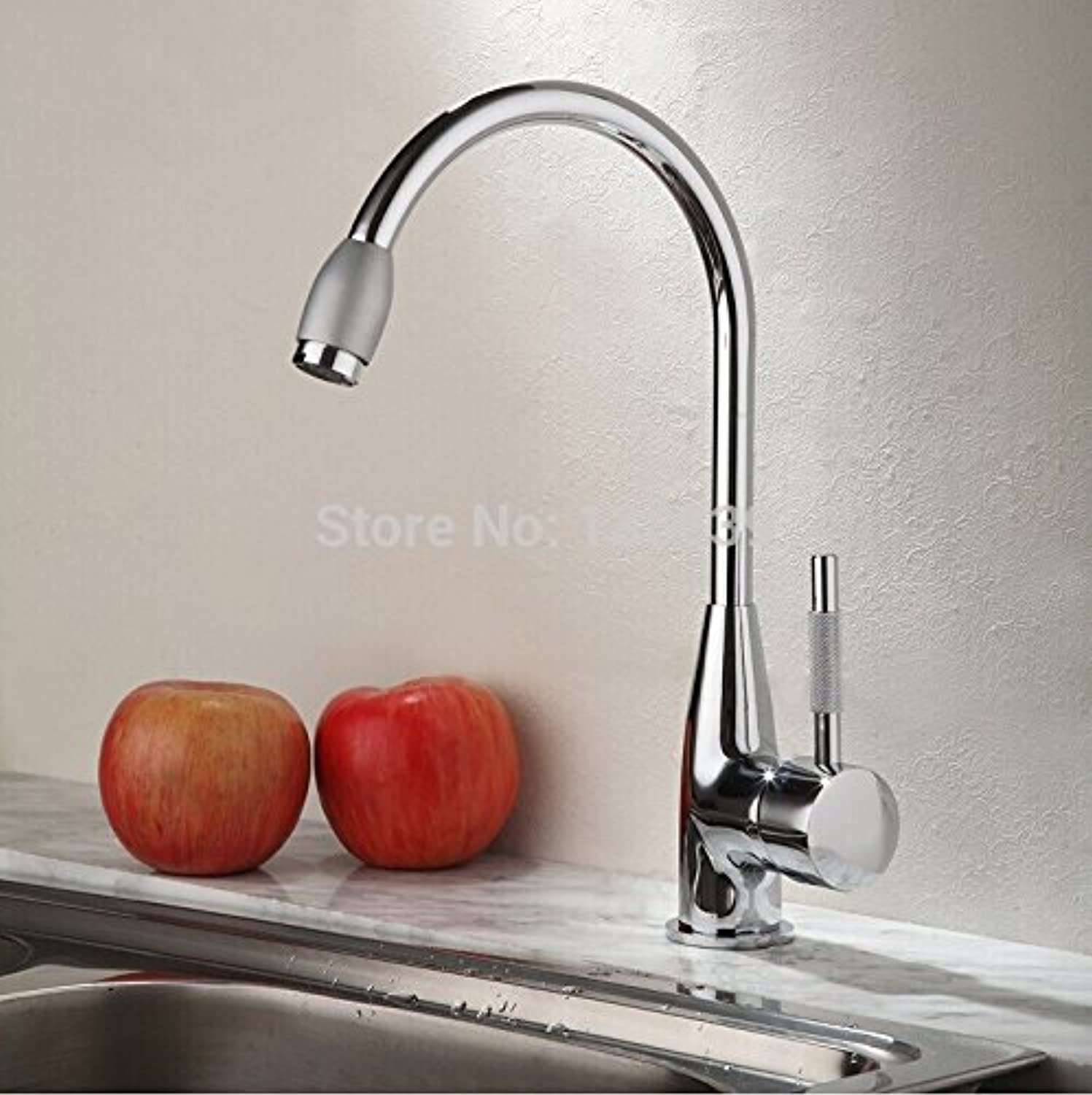 Retro Deluxe Faucetinging Free Shipping Wholesale and Modern Kitchen Faucet,Single Handle Chrome Polish hot and Cold Water Kitchen tap,torneira cozinha,White