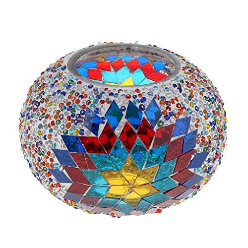 KESOTO Mosaik Lampenschirm E27 Ersatzschirm Lampenglas für Mosaiklampe/Deckenlampe/Tischlampe/Wandlampe - Bunt