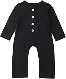 HuoFengDing Chick Summer Jumpsuits for Baby Boy Black