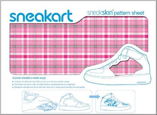 Sneakart-film adhésif pour chaussures à carreaux rose
