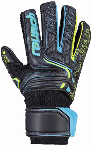 Reusch Herren Attrakt R3 Junior Torwarthandschuhe, Black/Safety Yellow/Black, 7.5