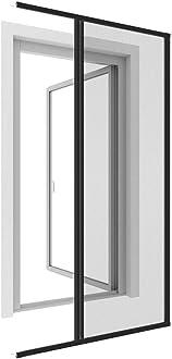 blanc Porte-moustiquaire WIP Porte anti-mouches grillag/ée en alu 100x210 cm