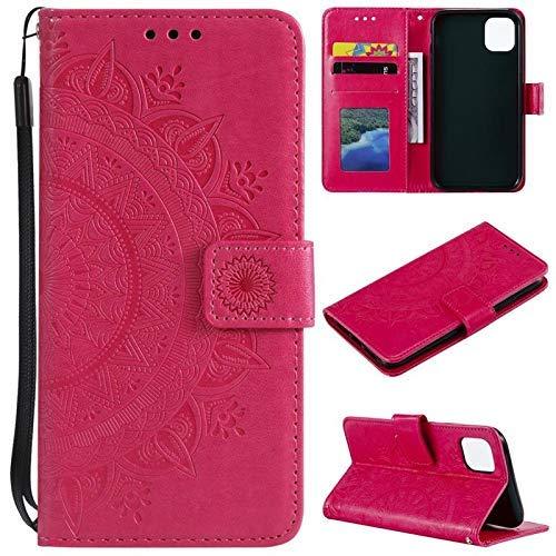 CoverKingz Handyhülle für Apple iPhone 11 [6,1 Zoll] - Handytasche mit Kartenfach iPhone 11 Cover - Handy Hülle klappbar Motiv Mandala Pink