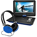 Ematic 10' Portable DVD Player with Headphones and Car-Headrest Mount - EPD116bu