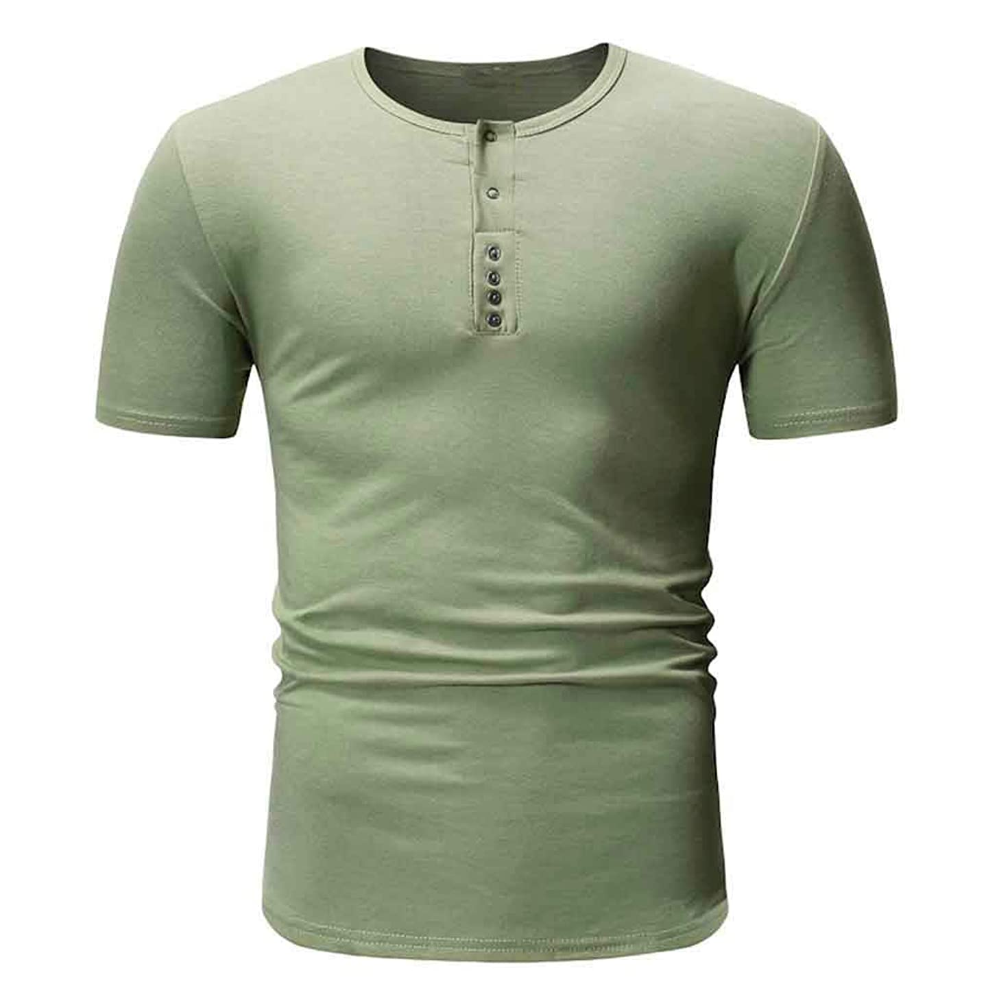 Mens Summer t Shirts Short Sleeve,Tronet Men Summer Fashion Short Sleeve T-Shirt Cotton Solid Tee Casual Top Blouse