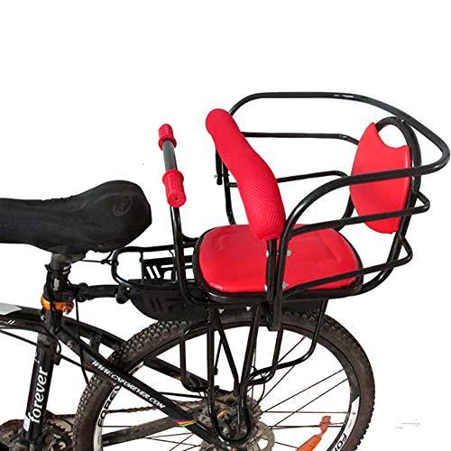 XXZ Asiento para NiñOs En Bicicleta Asiento De Seguridad para NiñOs Desmontable con Reposabrazos Y Asiento Acolchado CojíN del Asiento Trasero Adecuado para NiñOs De 2 A 6 AñOs