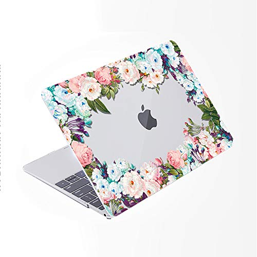 SDH Case for MacBook Pro 16 inch 2019 Release A2141, Plastic Pattern Hard Shell & Laptop Sleeve Bag & Keyboard Cover for Mac Pro 16-inch Retina Touch Bar & ID 4 in 1 Bundle, Flower World 9
