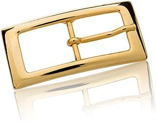Silberfarben Poliert Dornschliesse F/ür G/ürtel Mit 4cm Breite Buckle Step FREDERIC HERMANO G/ürtelschnalle Buckle 40mm Metall Silber Poliert