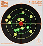 75 Pack - 8' Reactive Splatter Targets - GlowShot - Multi Color - See Your Hits Instantly - Gun and Rifle Targets - Search GlowShot for All Our 6', 8' and 10' Targets