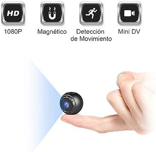 Mini Camara Espia Oculta MHDYT 1080P HD Micro Camara Vigilancia Grabadora de Video Portátil con IR Visión Nocturna Detector de Movimiento Camara Seguridad Pequeña Inalambrica Interior/Exterior