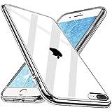 Wlife Crystal Clear Kompatibel mit iPhone 8 Plus Hülle iPhone 7 Plus Hülle, Transparent Stoßfest Anti-Gelb Anti-Kratzer Dünn Handyhülle Slim PC mit TPU Silikon Rahmen Durchsichtige Schutzhülle Case