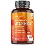 Vitamina D3 4000 UI Dosis Alta - 400 Días de Suministro, Estimula Sistema Inmunitario, Mejora Absorción de Calcio y Salud de Piel, Huesos y Articulaciones, 400 Comprimidos Vitamina d3 Colecalciferol