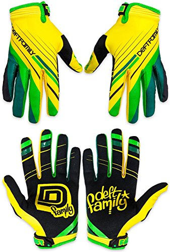 Deft Family Motocross MX Gloves Handschuhe Catalyst 2 Proper Yellow/Green (X-SMALL (7))
