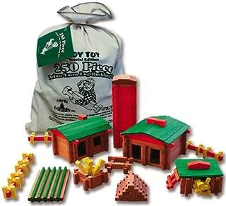 Roy Toy Deluxe Farm Building Set 250 Pcs.