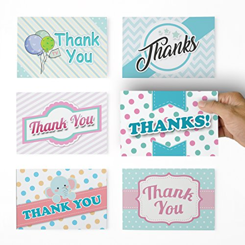 Thank You Cards - 36 Baby Thank You Notes for Your Wedding, Baby Shower, Business, Anniversary, Bridal Shower - Baby Thank You Cards with Envelopes - Blank Inside