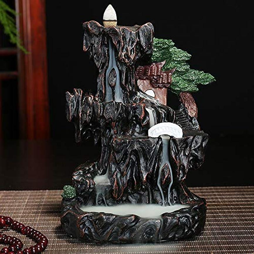 シネマ概念レザーPHILOGOD 香炉 樹脂材料マウンテンリバー風景逆流香炉 香皿 香立てホームデコレーション