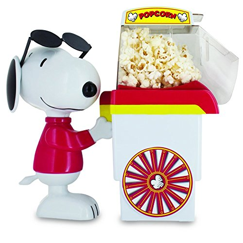 Find Discount Smart Planet PNP‐1 Peanuts Snoopy Popcorn Cart Air Popper, Red