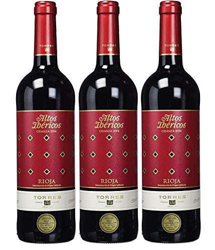 Altos Ibéricos Crianza, Vino Tinto - 3 botellas de 75 cl, Total: 2250 ml