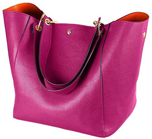 SQLP Damen Henkeltaschen Leder Groß Kapazität Shopper Tasche Student Schultasche Arbeit Handtasche für Damen Schultertaschen Weich Umhängetasche