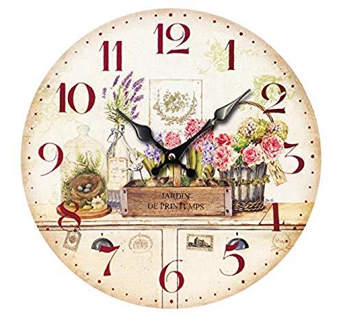 Reloj De Pared Frische Blumen Relojes De Pared para Oficina Reloj para Niños para Regalo Hogar Oficina Cocina