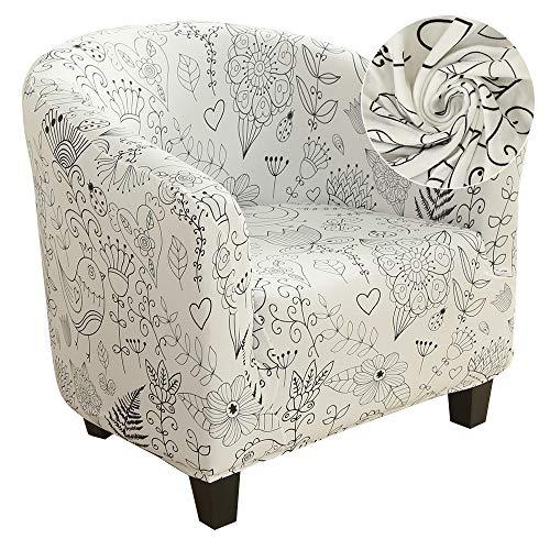 ChicSoleil Housse de fauteuil Jeté de fauteuil Housse de fauteuil avec motif moderne Housse élastique pour fauteuil club fauteuil lounge fauteuil cocktail #8