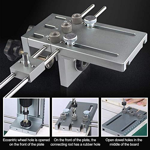 SEAAN 3 in 1 6/8/10 / 15mm Super Drilling Guide Neueste Version Selbstzentrierend auf Holz mit Präzision (600mm Kombinationsverlängerungs-Positionierstange)