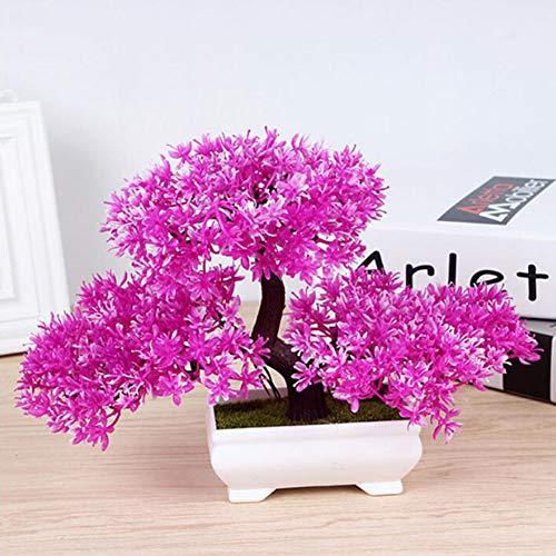 RUIZHISHUArtificial Plant Desktop Bloempot Landschap Simulatie Plant Bloempot Nep Plant, Home Decoratie Kunststof Decoratie Bonsai Grootte 27 * 18Cm (5 Kleuren), Roze