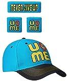 John Cena Blue Throwback U Can't See Me Baseball Hat Headband Wristband Set