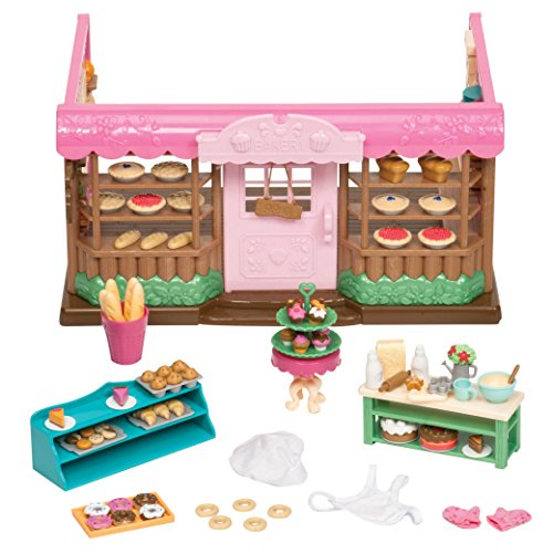 Li'l Woodzeez Bakery Playset – Tickle-Your-Taste-Buds Bakery – 85pc Toy Set with Play Food, Including Cookies, Donuts, Cupcakes, and Pies – Toys for Kids Age 3+