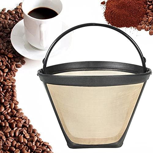 Styl wielokrotnego wielokrotnego użytku Filtr 10-12 szklanki Trwała ekspres do kawy Maszyna Filtr Gold Siatka z uchwytem Cafe Case Narzędzia Filtry do kawy.