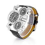 Dilwe montres analogiques, montre pour homme à quartz à la mode avec 2bracelets...