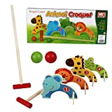 Kids Croquet Golf Toy Set Wooden Animal Garden Outdoor Childrens Play Lawn Games