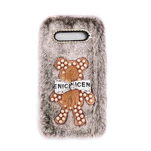 YHY Funda Teléfono Pearl Bear Plush para Samsung Galaxy A5 Carcasa De Felpa De Silicona Suave y Elegante La Piel Marrón