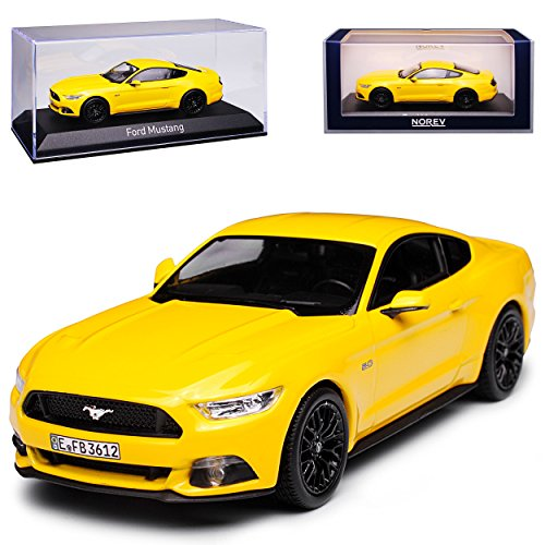 Norev Ford Mustang VI Coupe Gelb Ab 2014 1/43 Modell Auto