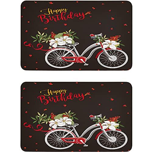 Vnurnrn Imán para lavaplatos con forma de flor y fruta para bicicleta de cumpleaños, placa magnética, placa decorativa para cocina, oficina, lavavajillas, indicador de lavadora de platos, 2 unidades